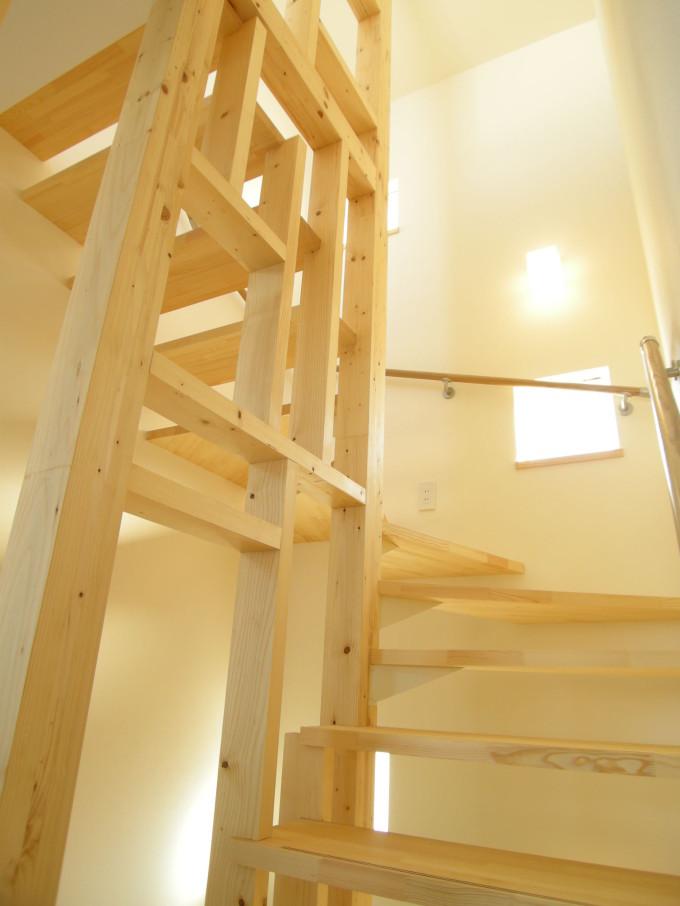 ペントハウスの家階段
