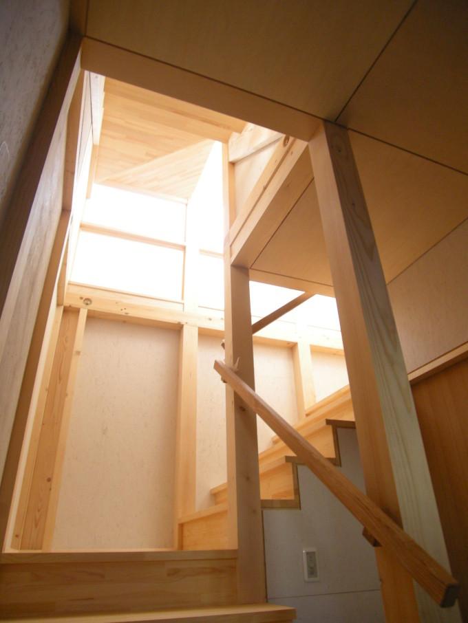 ペントハウスの家2階段