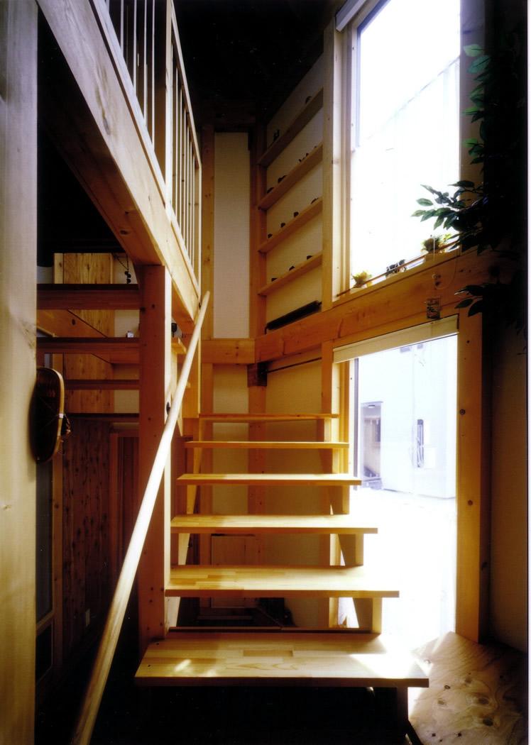 三角形の家階段